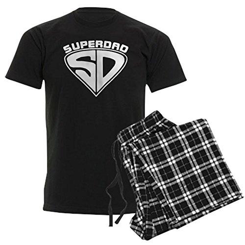 CafePress Super Dad Pajamas Unisex Novelty Cotton Pajama Set, Comfortable PJ Sleepwear ()