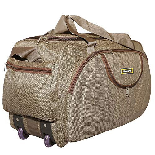 Nice Line 40 L Brown Polyester Travel Duffle Bag for Men and Women