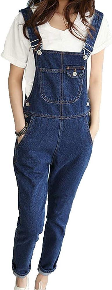 Junkai Mujer Rotos Agujero Vaqueros Retro Flojo Jeans Estilo Universitario Pantalones Casual Comodo Denim Pantalones S 2xl Amazon Es Ropa Y Accesorios