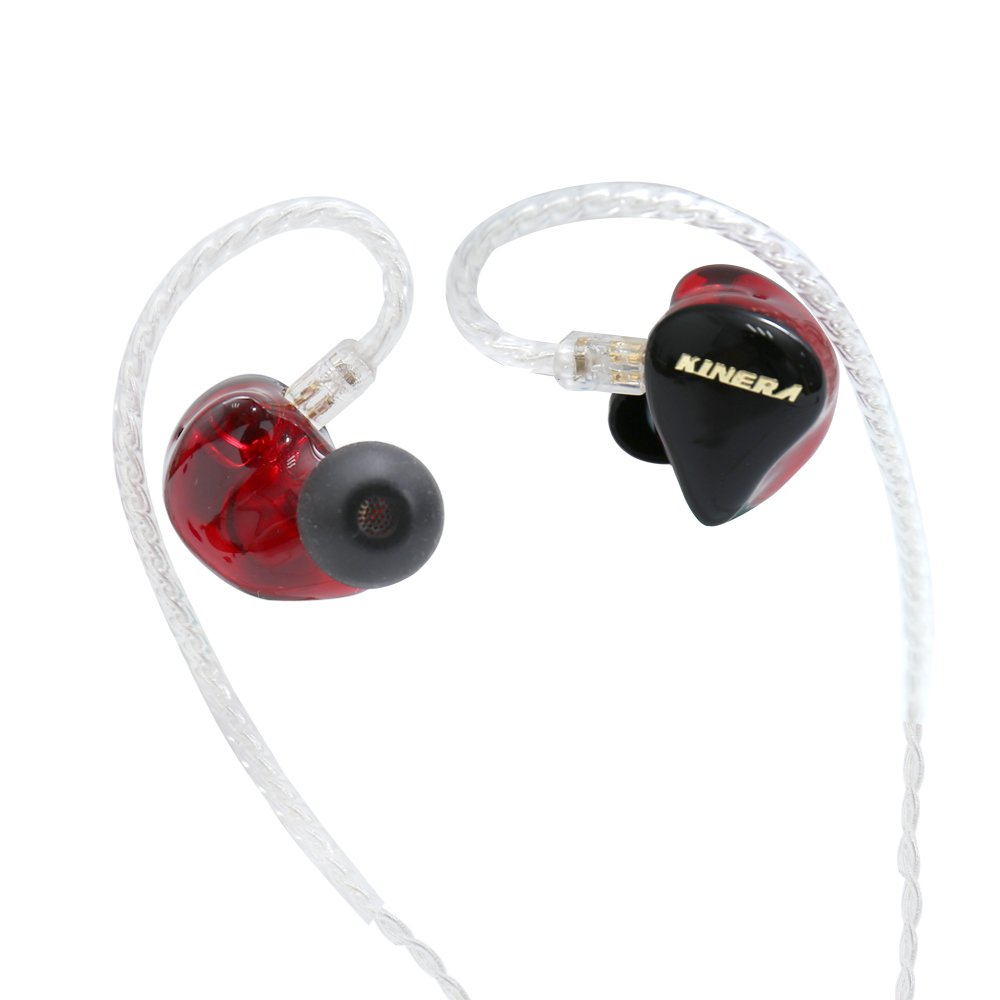 In Ear Monitors Kinera H3 Double Balanced Armatures & One Dynamic Cable Detachable IEM In Ear Earphone (Red)