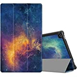 Infiland All-New Fire HD 10 2017 Case - Tri-Fold Ultra Slim Stand Smart Case Cover for All-New Amazon Fire HD 10 (7th Generation, 2017 Release ), Galaxy