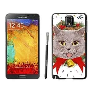Personalization Christmas Wreath Cat Black Samsung Galaxy Note 3 Case 10
