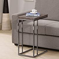 Generic Weathered Grey Finish Expandable-side End Table, Expands From 12 to 24