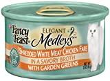 Fancy Feast Gourmet Cat Food, Shredded Chicken Fare in Broth with Garden Greens, 3-Ounce Cans (Pack of 24), My Pet Supplies