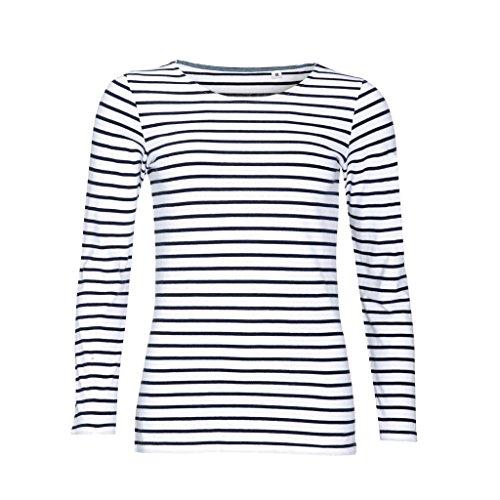 SOL'S Dames Navy T-shirt met lange mouwen