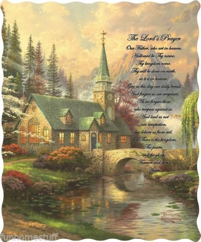 """""""The Lord's Prayer"""" Officially Licensed Quilted Throw 50 in x 60 in"""