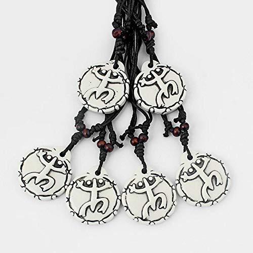 Wholesale Lot 12pcs White Puerto Rico Coqui Taino Symbol Pendant Necklace