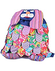 Dogs Cute Canvas Animal Backpack for Boy & Girl Hiking School Daypack by Ms.Camellia