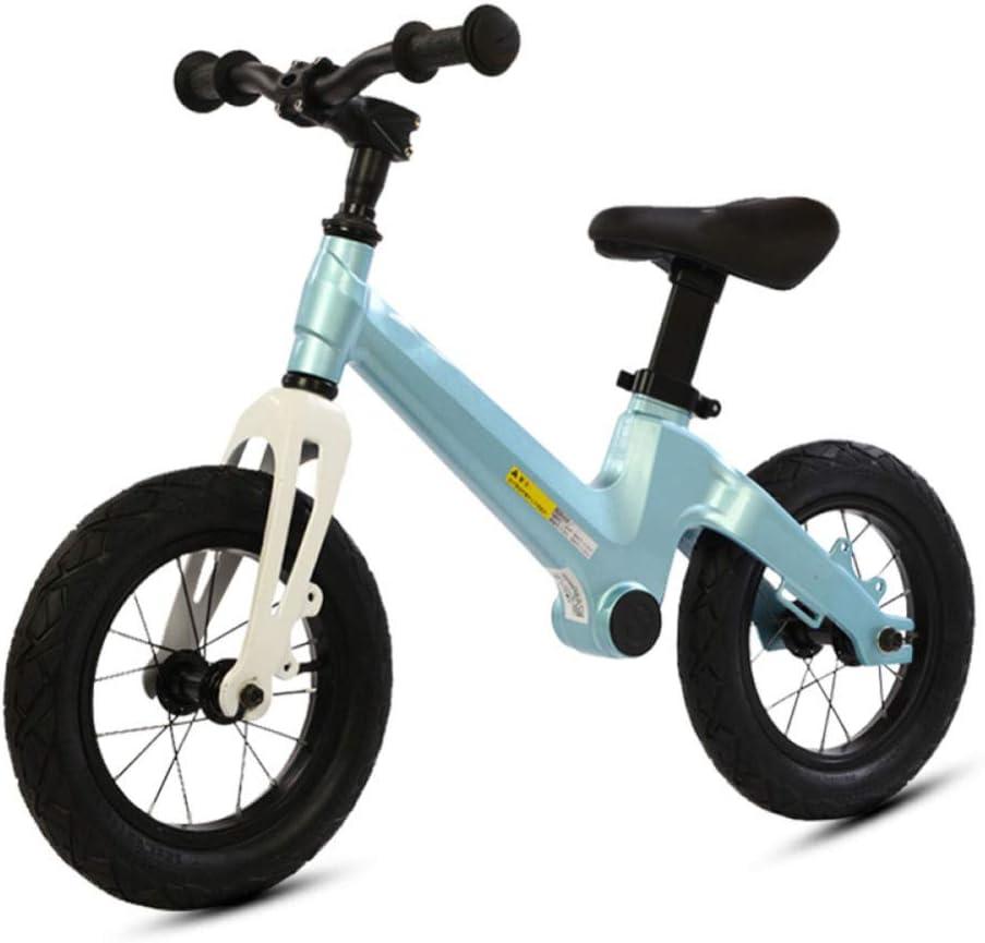 TH Equilibrar Bicicleta Sin Pedal, Manillar Y Asiento Ajustables, Neumáticos De Goma Bicicleta De 2 Ruedas con Marco De Aluminio 2-6 Años