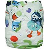 Alva Baby Print Reuseable Washable Pocket Cloth Diaper Nappy + 2 Inserts S45