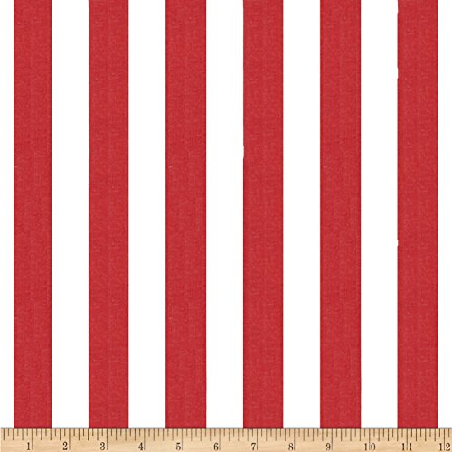 Richland Textiles 1 in. Stripe Red/White Fabric by The Yard, Red/White