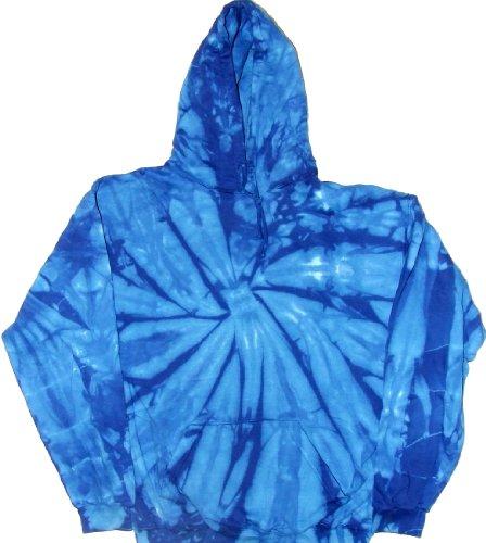 Tie Dyed Shop Royal Blue Spiral Pullover Tie Dye Hoodie Sweatshirt-3X