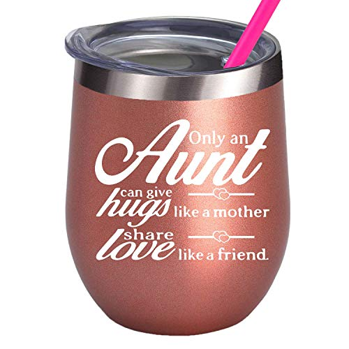 Birthday Gifts For Auntie Great New Aunt To Be Gift For Mother's Day Wine Glass 12OZ