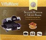VillaWare V6150 4-Square Belgian Waffler/Multi-Baker, Stainless Steel