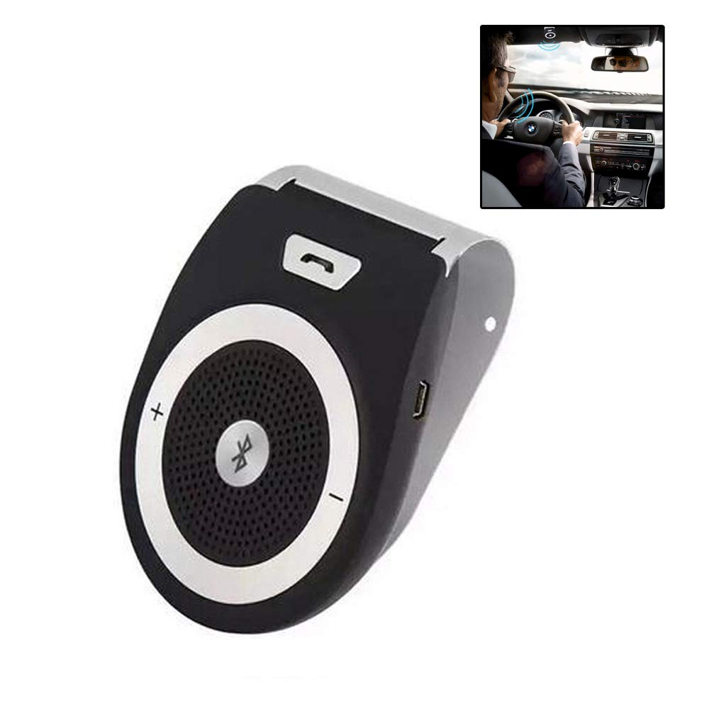 TTK Auto Bluetooth Car Kit Handsfree Noise Cancelling Bluetooth V4.1 Receiver Car Speakerphone Multipoint Clip Sun Visor for Two Phones by TTK Auto