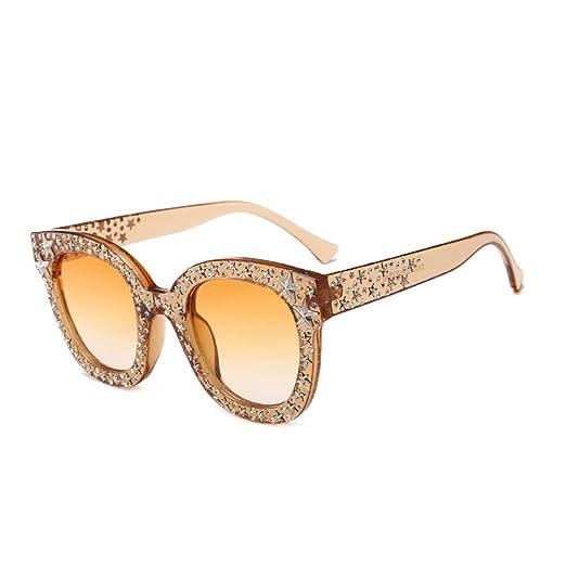 Yangjing-hl Gafas de Sol Estrellas de Moda Gafas de Mujer ...