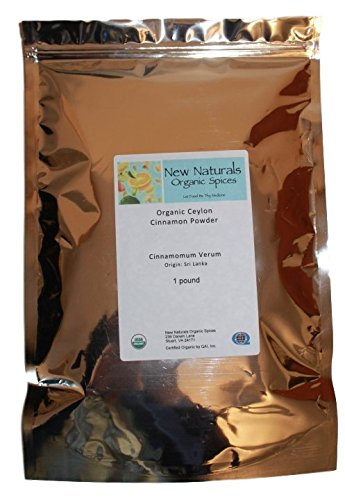 Organic Ceylon Cinnamon in a 1 lb. standup recloseable bag from New Naturals