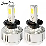 Starnill LED Headlight Conversion Kit - All Bulb Sizes - 72W 6600LM COB LED - Replaces Halogen & HID Bulbs (H7)