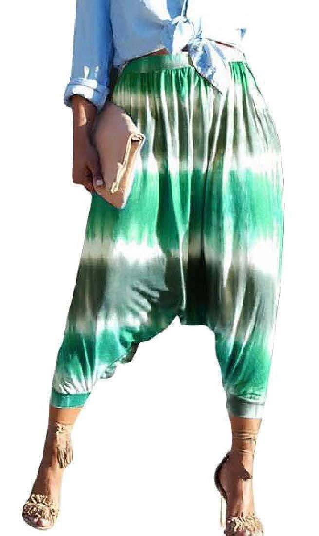 HTOOHTOOH Womens Yoga Pants Tie Dye Pants Baggy Hippy Harem Pants