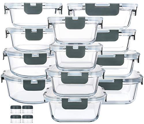 24-Piece Glass Food Storage