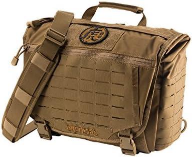 59c0182652 OneTigris HU Tactical Messenger Bag Laser-Cut MOLLE Laptop Shoulder Bag ( Coyote Brown)