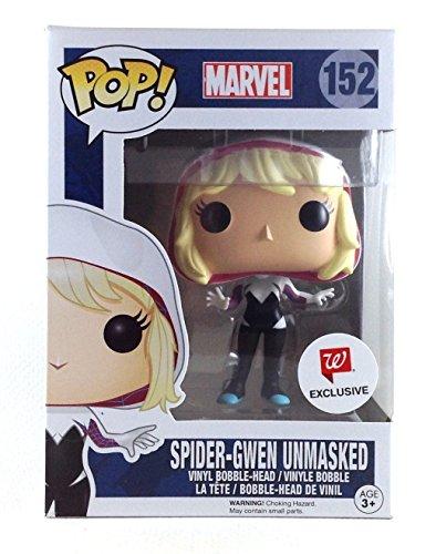 Funko Pop! Marvel #152 Spider-Gwen Unmasked, Walgreens Exclusive Vinyl Pop Figure Vinyl Spider