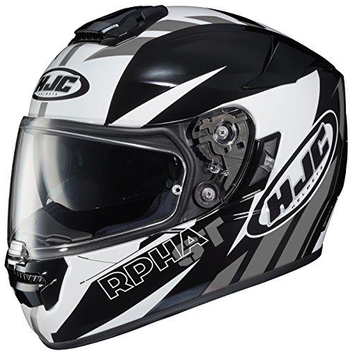 HJC RPHA-ST Rugal - Casco integral para motocicleta, Casco estilo cara completa, Negro/Blanco/Gris, Pequeño