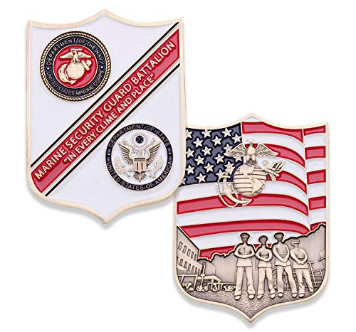 Marine Corps Security Guard Challenge Coin - MSG USMC Military Coin - Designed by Marines for Marines - Officially Licensed Product ()