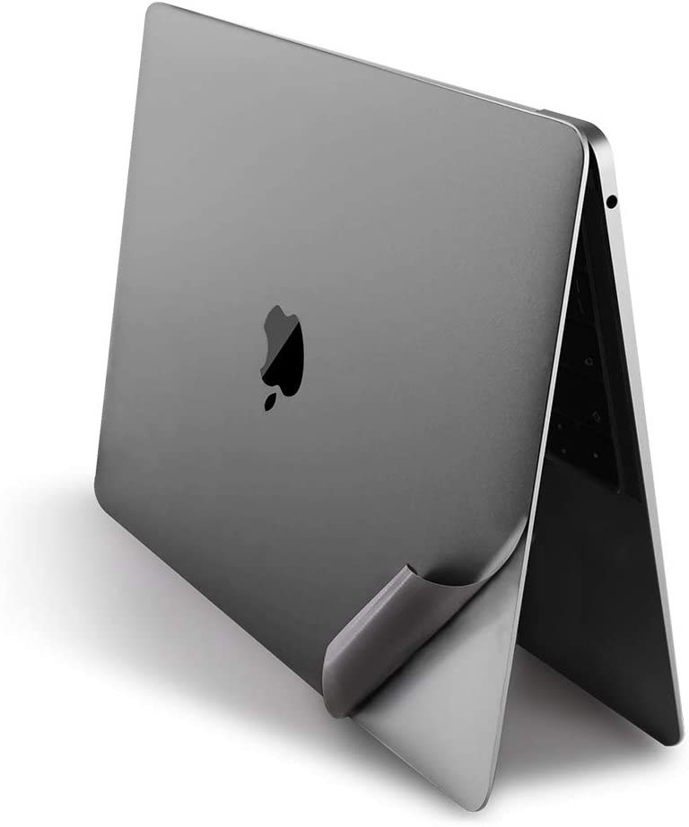 """JRCMAX 5-in-1 Laptop Skin Stiker for 2020+MacBook Air 13"""" (Model: A2179) and 2018+MacBook Air 13 Inch (Model: A1932), 3M Vinyl MacBook Air Accessories Palm Rest Skin and Screen Protector -Space Gray"""