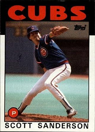 Amazoncom 1986 Topps Baseball Card 406 Scott Sanderson Mint
