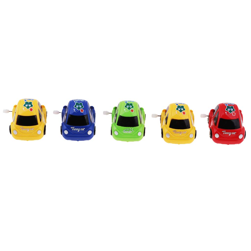 Flameer 5pcs Plastic Wind-up Mini Car Toy Gifts for Kids Goody Bag Giveaway /& Prizes