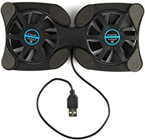 LFJNET Foldable USB Laptop Cooling Pads with Double Fans Mini Octopus Notebook Cooler Cooling Pad for 7-15 Inch Notebook Laptop Black
