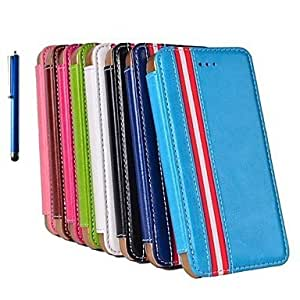 JJE The European Style Leather Case with Stand Hold and Pen for iPhone 5/5S(Assorted Colors) , White
