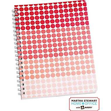 "Martha Stewart Home Office™ with Avery™ Geometric Notebook, Red, 8-1/2"" X 11"""