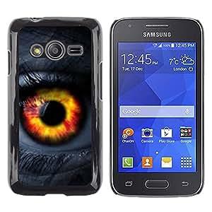 Caucho caso de Shell duro de la cubierta de accesorios de protección BY RAYDREAMMM - Samsung Galaxy Ace 4 G313 SM-G313F - Orange Passion Woman Lashes