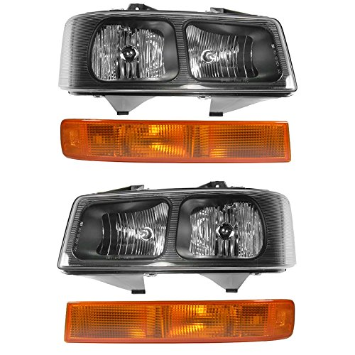 Headlight Parking Light Lamp Front Kit LH RH Set for Express Savana Van
