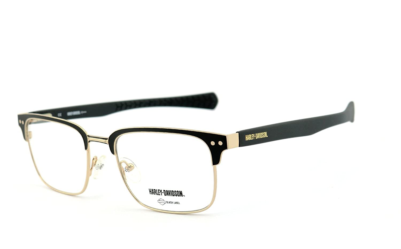 1fba8d50ee Homme multicolore Noir/doré Taille unique EA-HD1019-53033-NORX Montures de lunettes  Harley-Davidson