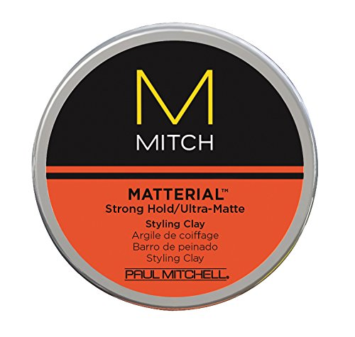 Paul Mitchell Matterial Strong Hold Ultra Matte Styling Clay, 3 oz