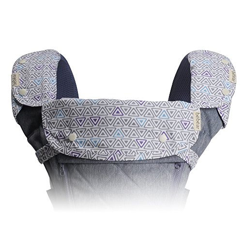 Bebamour Drool Teething Pad for Boy&Girl 3 Piece Set Fit Ergo, Babybjorn Most Baby Carrier,Gray Review