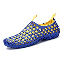 Water Shoes RaBia Mesh Hollow Soft Swim Shoes Breathable Flexible Sandals Separable Insoles Beach Shoes For Women and Men