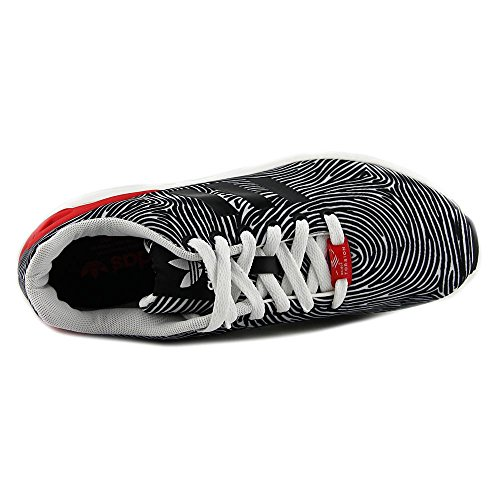 Zapatos para correr sintético Adidas Zx Flux White/Core Black/Tomato