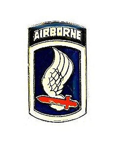 (US Army 173rd Airborne Brigade Lapel Pin Hat Tie Tac Brass CHN)