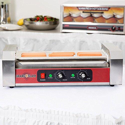 Grand Slam HDRG12 Hot Dog Roller Grill - 5 Rollers, 12 Hot Dog Capacity (110V)