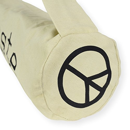 Yoga Mat Bag w/ Shoulder Strap & Drawstring. Natural Cotton Organic Feel Fiber. Lightweight & Durable by Junc. (Image #5)