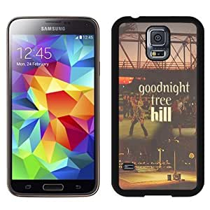Well Design Galaxy S5 Case,DIY I9600 Case Design with Goodnight Tree Hill Samsung Galaxy S5 SV I9600 Cover in Black