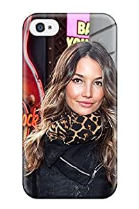 Hot Rugged Skin Case Cover For Iphone 4/4s- Eco-friendly Packaging(lily Aldridge)