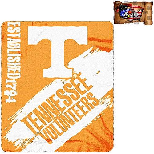 "NCAA Tennessee Volunteers Painted Fleece Throw Blanket 100% Polyester 50""x 60"" & UAA Decal"