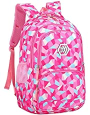 XHHWZB Protective Spine Child Girl Waterproof Backpack - Large-Capacity School Bag, Can Be Used for Summer Camp, Winter Camp Backpack