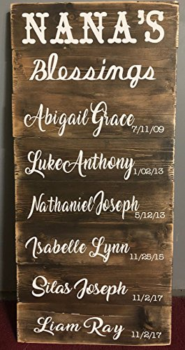 RUSTIC Pallet Plank Boards with names on your Grandchildren or Children --- Pallet Sign, Wood Surface, Wedding Decor, Mother's Day gift, Anniversary, Father's Day, Birthday Gift by EllieNae Designs