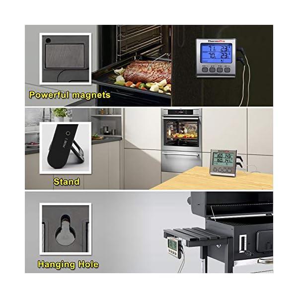 ThermoPro TP17 Termometro Cucina Digitale a Doppia Sonda con Modalità Timer e Display LCD per Cottura BBQ Alimenti Carne… 7